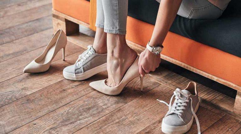 Qual tipo de sapato devo usar para a minha saúde